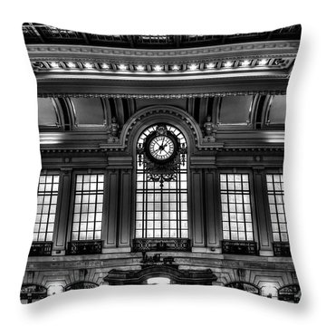 Hoboken Terminal Throw Pillow