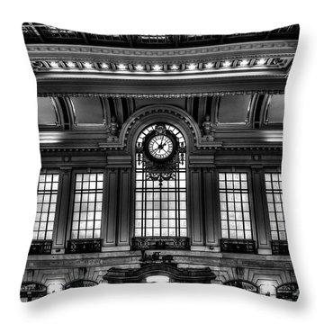 Hoboken Terminal Throw Pillow