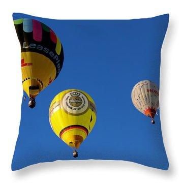 3 Hot Air Balloon Throw Pillow