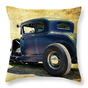 Hot Rod Ford Throw Pillow