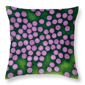 Human Papillomavirus Throw Pillow