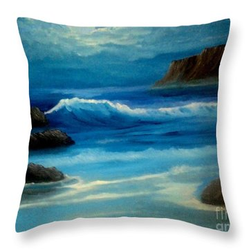 Throw Pillow featuring the painting Illuminated by Holly Martinson