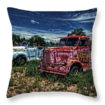 Throw Pillow featuring the photograph 3 In A Row by Ken Smith