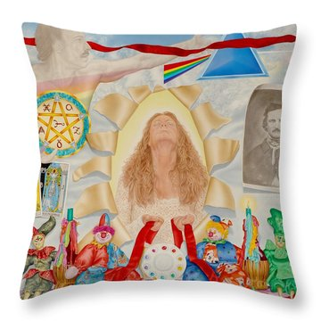 Invocation Of The Spectrum Throw Pillow