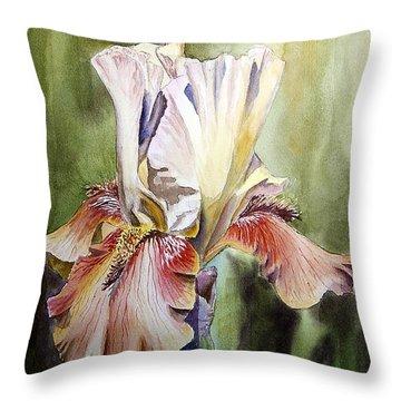 Iris Painting Throw Pillow