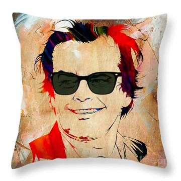 Jack Nicholson Collection Throw Pillow
