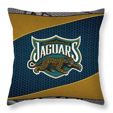 Jacksonville Jaguars Throw Pillow by Joe Hamilton