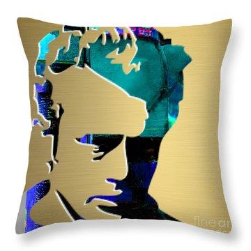 James Dean Gold Series Throw Pillow