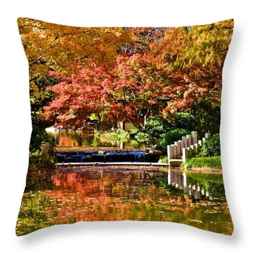Japanese Gardens Throw Pillow
