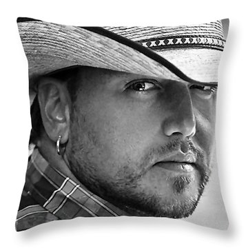 Jason Aldean Throw Pillow