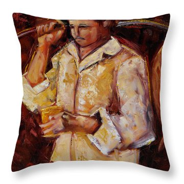Jibaro De La Costa Throw Pillow