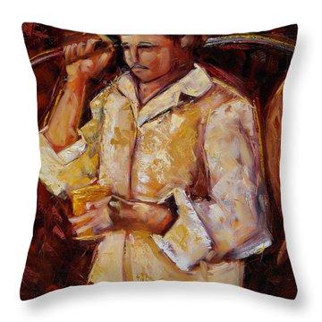 Throw Pillow featuring the painting Jibaro De La Costa by Oscar Ortiz