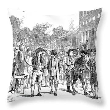 John Nixon, 1776 Throw Pillow by Granger