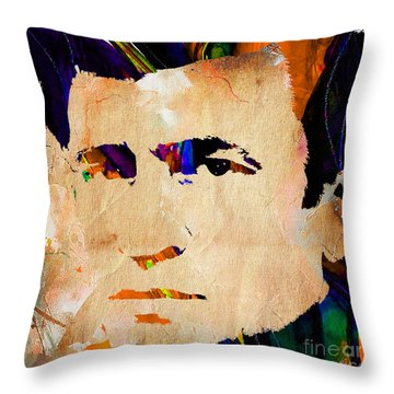 Johnny Cash Collection Throw Pillow