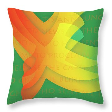 Jubilee Throw Pillow by Chuck Mountain