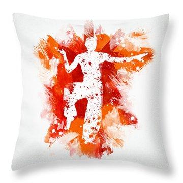 Karate Fighter Throw Pillow