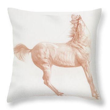 Kicking Off Throw Pillow