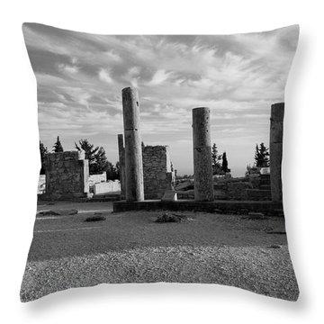Kourion-temple Of Apollo Throw Pillow by Augusta Stylianou