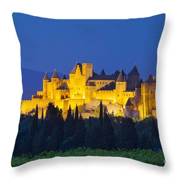 La Cite Carcassonne Throw Pillow by Brian Jannsen