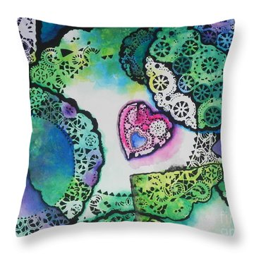 Laced Memories Throw Pillow