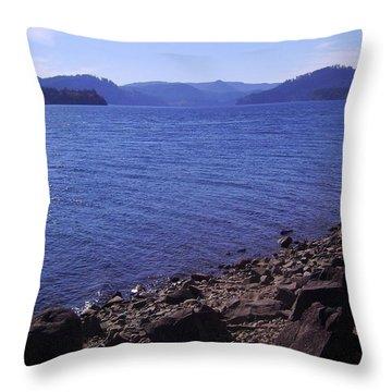 Lakes 2 Throw Pillow