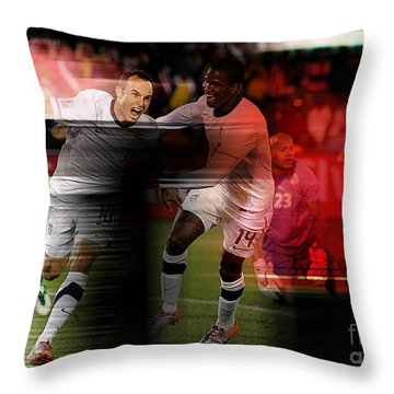 Landon Donovan Throw Pillow by Marvin Blaine