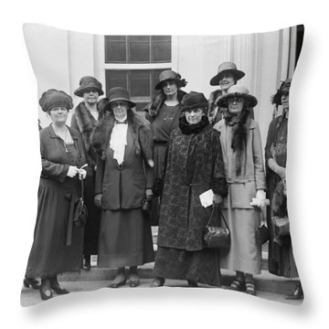 League Of Women Voters Throw Pillow by Granger