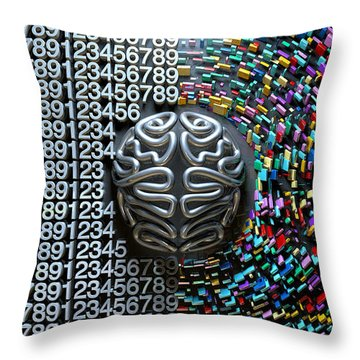 Left And Right Brain Concept Throw Pillow
