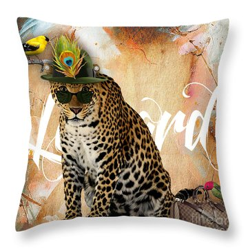 Leopard Collection Throw Pillow