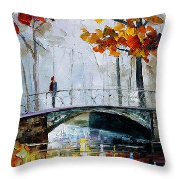 Little Bridge Throw Pillow by Leonid Afremov
