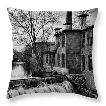 Throw Pillow featuring the photograph Little River Dam by Betty Denise