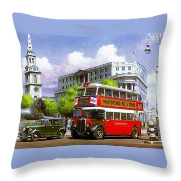 London Transport Stl Throw Pillow by Mike  Jeffries