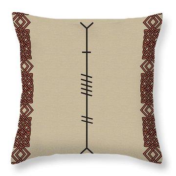 Love Written In Ogham Throw Pillow