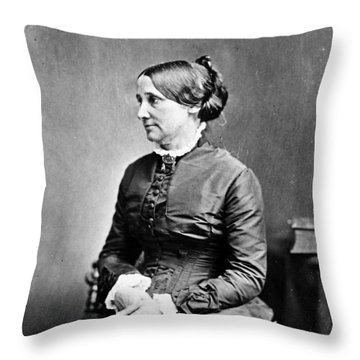 Lucy Hayes (1831-1889) Throw Pillow