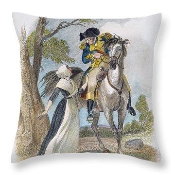 Lydia Darrah, 1777 Throw Pillow by Granger