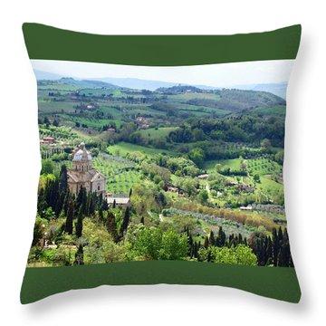 Madonna Di San Biagio Throw Pillow