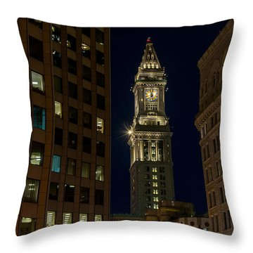 Marriott Custom House Tower Throw Pillow