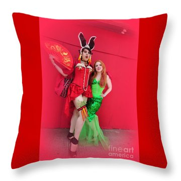 Mermaid Parade 2011 Throw Pillow by Mark Gilman