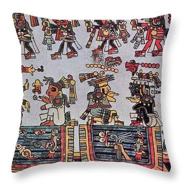 Mexico Mixtec Manuscript Throw Pillow