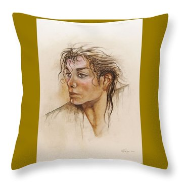 Michael Life Unfinished Throw Pillow