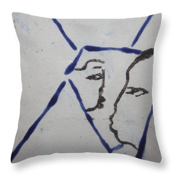 Michelle - Tile Throw Pillow by Gloria Ssali
