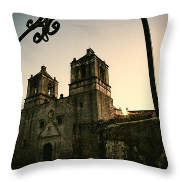 Mission Concepcion Throw Pillow by Iris Greenwell