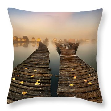 Vanishing Point Throw Pillows
