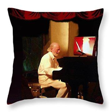 Mose Allison Throw Pillow by Ellen Henneke