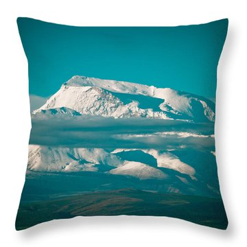 Mount Gurla Mandhata Throw Pillow by Raimond Klavins