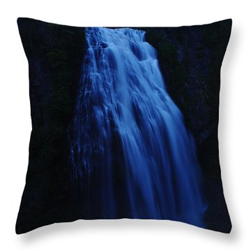 Narada Falls Throw Pillow by Jeff Swan