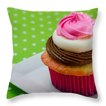 Neapolitan Cupcakes Throw Pillow