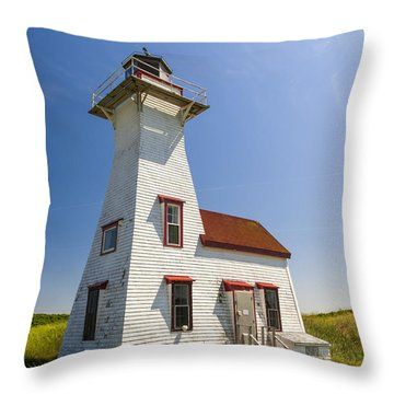 New London Range Rear Lighthouse Throw Pillow