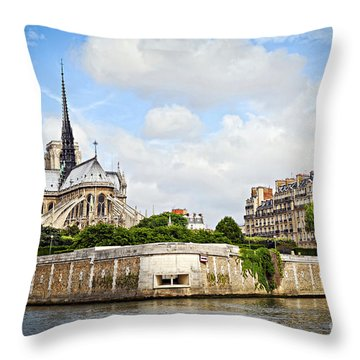 Notre Dame De Paris Throw Pillow