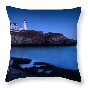 Throw Pillow featuring the photograph Nubble Lighthouse by Brian Jannsen